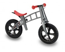 FirstBike Cross loopfiets Zilver handrem Luchtbanden